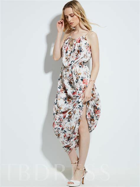 Sleeveless Drawstring Dress drawstring sleeveless flower print s maxi dress