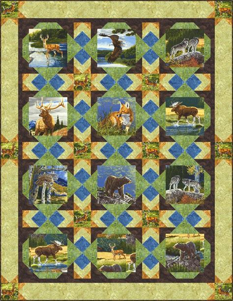 nature quilt pattern 277 best eagle wolves deer and nature quilts images on