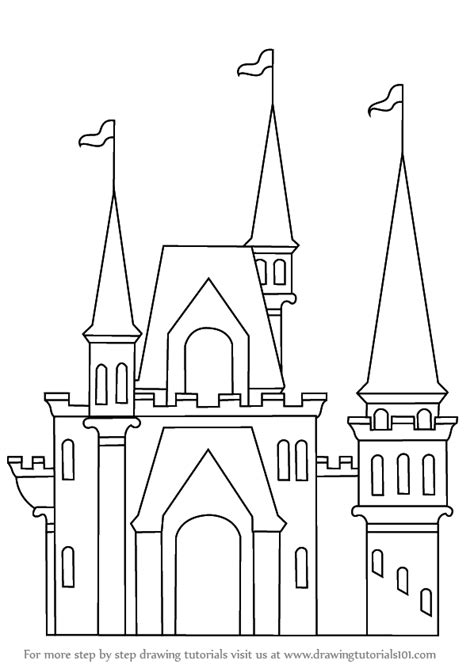 learn how to draw a castle for kids castles step by step