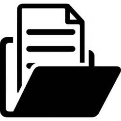 open folder with document icons free download