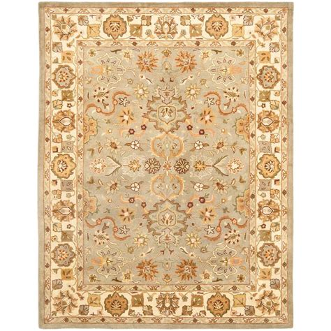 Beige And Green Area Rugs Safavieh Heritage Light Green Beige 11 Ft X 15 Ft Area Rug Hg959a 1115 The Home Depot