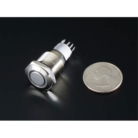 rugged metal rugged metal on switch with white led ring 16mm white on at mg labs india