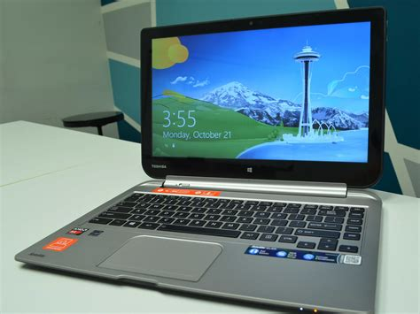 review toshiba has a new windows 8 laptop tablet hybrid and it s just ok business insider
