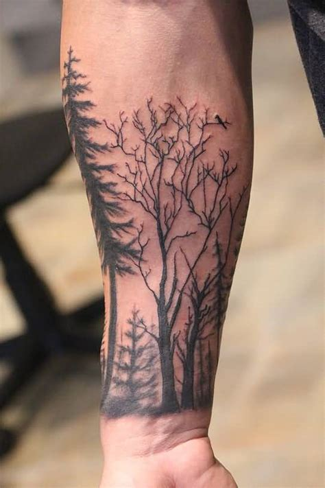 forest tree tattoo 13 trendy forest on forearm golfian