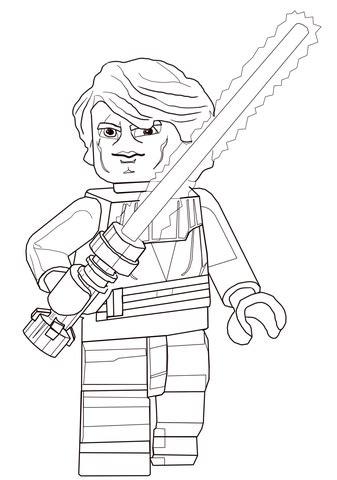 lego wars luke skywalker coloring pages lego wars anakin skywalker coloring page free