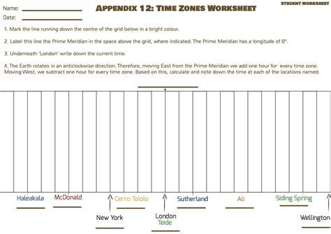 Time Zone Worksheet by World Time Zones Worksheet Bluegreenish