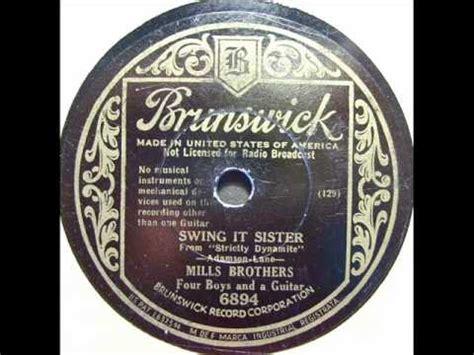 swing it sister mills brothers swing it sister brunswick 6894 1934
