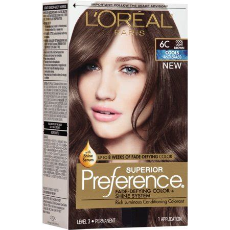 coloring l oreal hair color unique l oreal garnier color sensation 30 2014 24 best of l l oreal superior preference cools anti brass hair color kit 6c cool light brown walmart