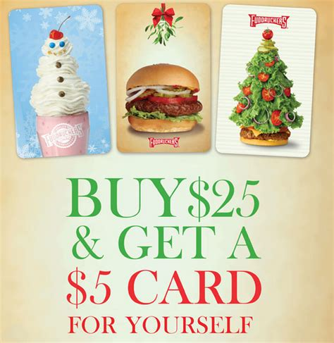 Gift Card Promotion - fudruckers christmas gift card promotion family finds fun