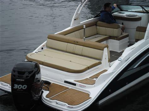 hurricane deck boat transom sea ray 270 sundeck ob sea gate boating
