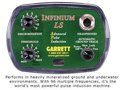 pulse induction with discrimination garrett infinium ls metal detector 916 225 9150 big valley metal detectors