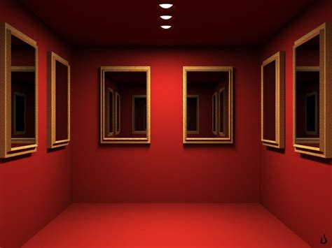 room wallpaper 1024x768 red mirrored room desktop pc and mac wallpaper