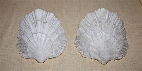 Plaster Wall Sconces pair of serge roche style shell plaster wall sconces at 1stdibs
