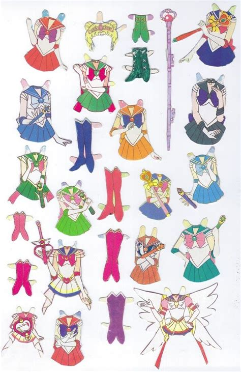 Sailor Moon Papercraft - 17 best images about paper dolls on strawberry