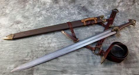 pattern welded viking sword bronze by jeffrey j robinson
