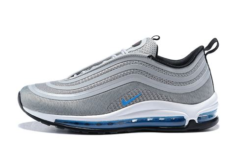 Nike Airmax 980 Series Running Grey new nike air max 97 ultra 17 s autumn winter shockproof running shoes grey blue white