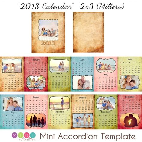 calendar book template mick luvin photography 2013 mini accordion book calendar