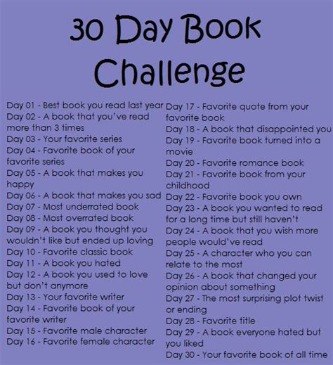 30 days of books 30 day book challenge other libraries using