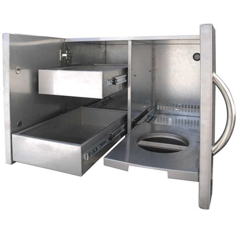 Stainless Steel Bbq Doors by Cal Outdoor Kitchen 30 In Stainless Steel Door And