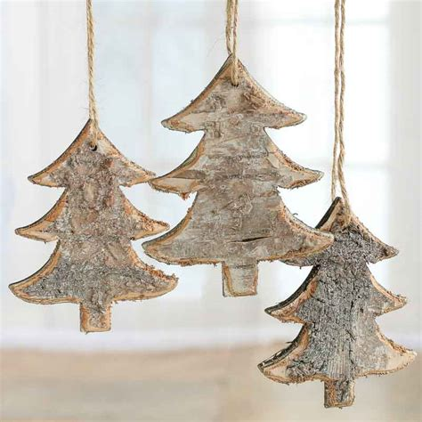 rustic birch tree ornaments christmas ornaments