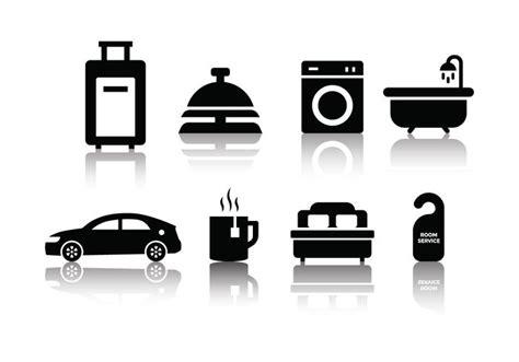 minimalist icons free minimalist hotel icon set free vector