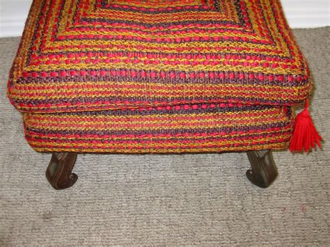 Vintage Colorful Ottoman Bench Or Stool For Sale At 1stdibs