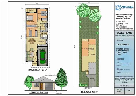 Single Story House Plans For Narrow Lots by Single Story Narrow Lot Homes Plans Perth Low Res House