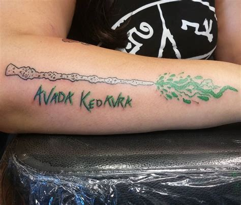 elder wand tattoo 145 most magical harry potter tattoos you ll want to see