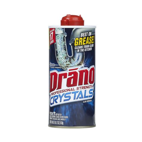 is drano safe for bathtubs shop drano 18 oz drain cleaner crystals at lowes com
