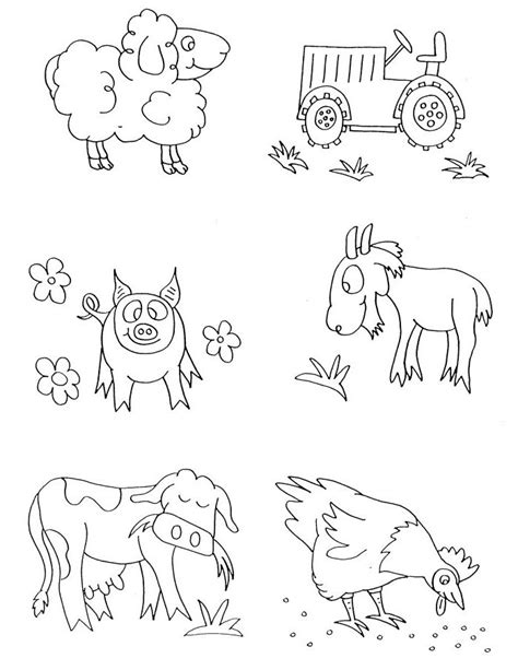 preschool coloring pages of animals farm animals coloring pages preschool animals coloring