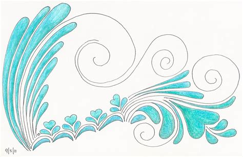 Drawing Waves by Mom5kids Sketch 3 Waves Blue Green