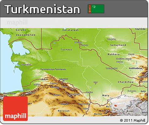 physical map of turkmenistan free physical 3d map of turkmenistan