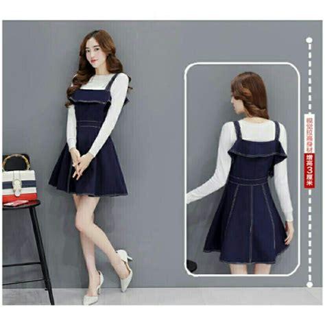 Overall Set Setelan Wanita setelan baju mini dress overall pendek modern model terbaru