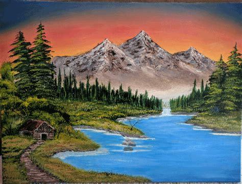 bob ross painting mountain retreat mountain retreat bob ross wetcanvas
