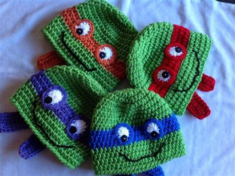 crochet ninja pattern free crochet teenage mutant ninja turtles hat green with