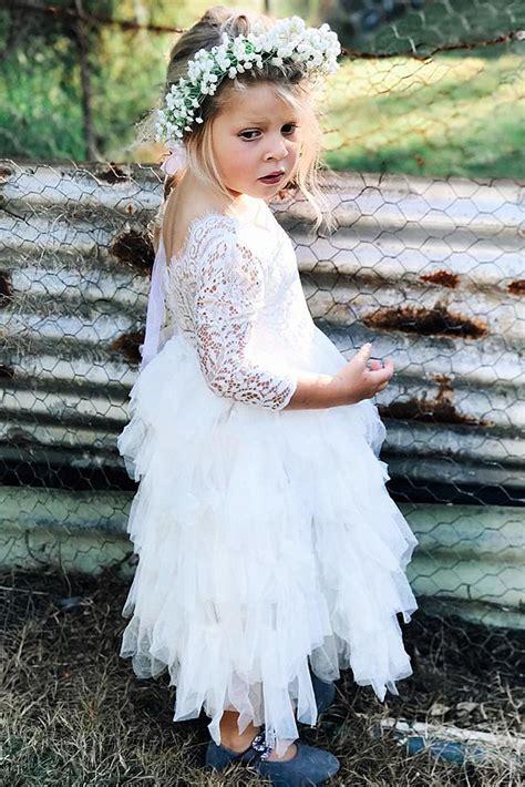 country flower girl dresses   pretty wedding