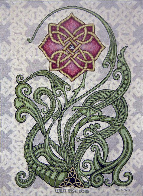 irish rose tattoos 26 quot x 36 quot woven tapestry design ideas