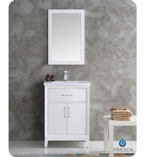 fresca bathroom vanity fresca fvn2124wh cambridge 24 inch white traditional
