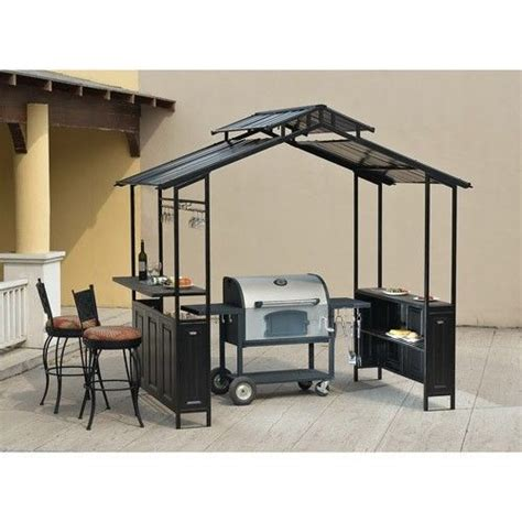 Bbq Metal Hardtop Gazebo by Shelters Outdoor Patios And Outdoor On Pinterest