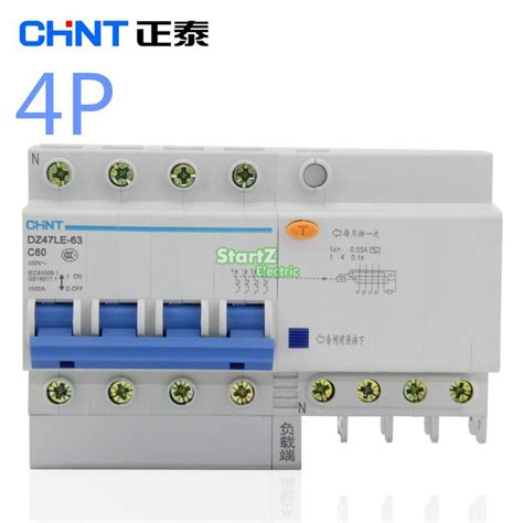 Chint Mcb Eb 1 P 20 A 4 5ka chint dz47le 4p 10a 16a 20a 25a 32a 40a 50a 60a residual current circuit breaker rcbo us50