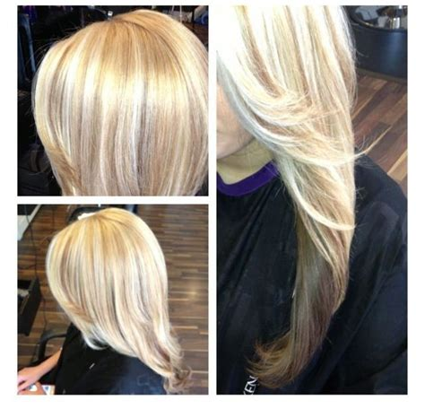 what do lowlights in hair look like platinum blonde hair with highlights from the neck up
