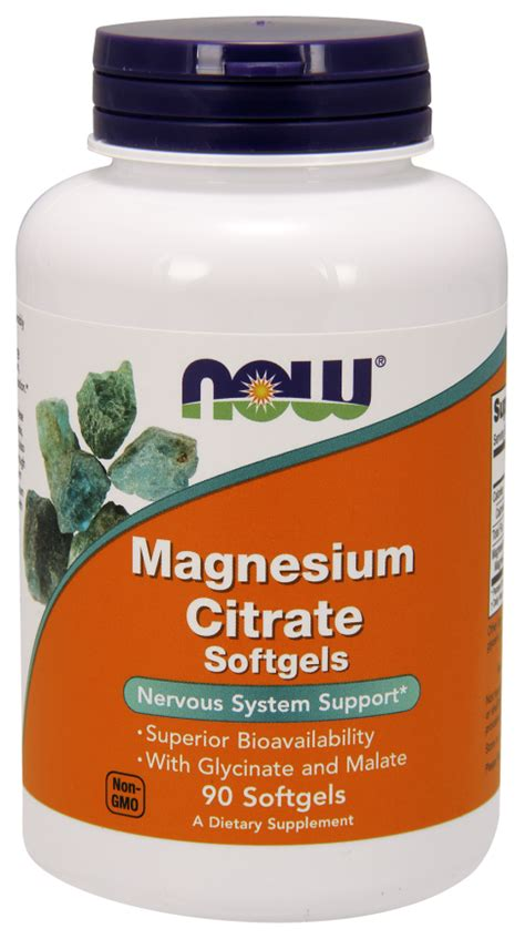 Magnesium Citrate Detox Diet by Magnesium Citrate Softgels Now Foods