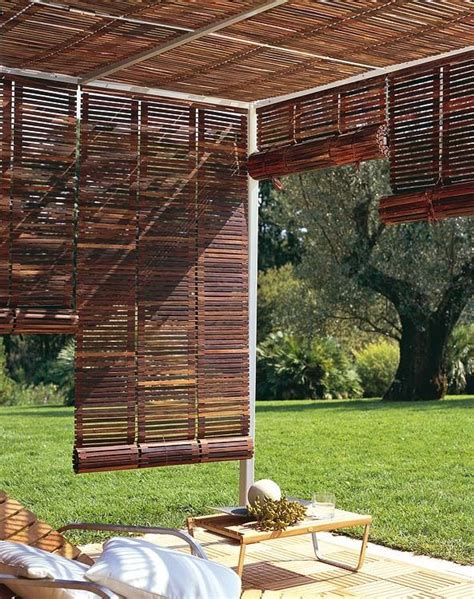 Roll Up Blinds On Pergola Outside The House Pinterest Outdoor Blinds For Pergola