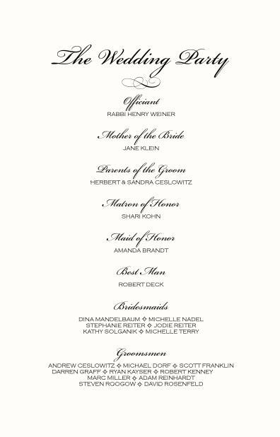 monogram wedding ceremony program exles wedding directories order of service church