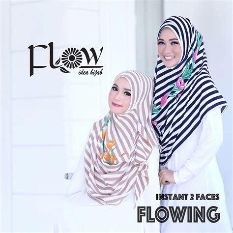 Flowing Stripe Ori Flow jual instant 2 faces flowing stripe 2 flow toko jilbab
