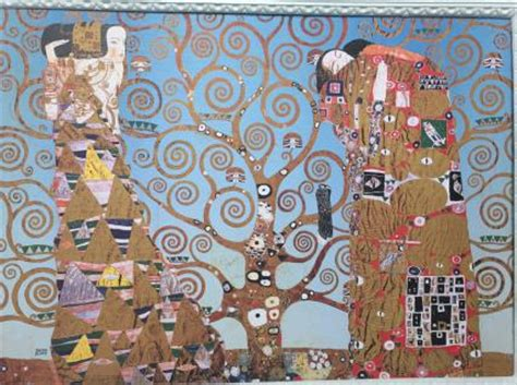 gustav klimt smtliche gemlde wandbild der kuss bild lebensbaum 50x70 bild auf mdf platte gem 228 lde gustav klimt kaufen bei