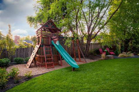 Backyard Playset Ideas Extraordinary Wooden Playset Decorating Ideas Images In