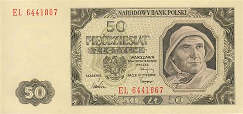 currency converter zloty 50 old polish zlotych banknote 1948 issue exchange yours