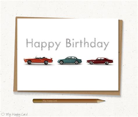 printable birthday cards cars car birthday card printable 5x7 digital file