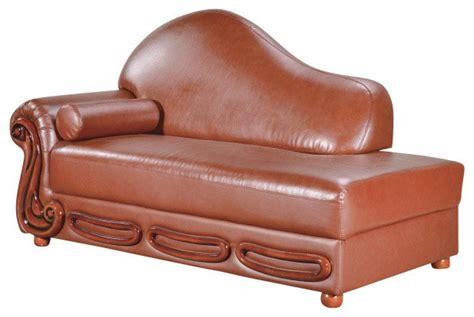 Chaise Lounge Indoor Leather Leather Chaise Traditional Indoor Chaise Lounge Chairs By Meridian Furniture
